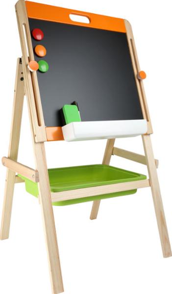 Kompaktní dětská tabule na křídu i magnet /dřevěná/