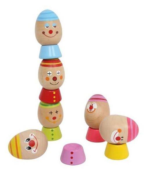 Vejce na sobě balanční a motorická dřevěná hra