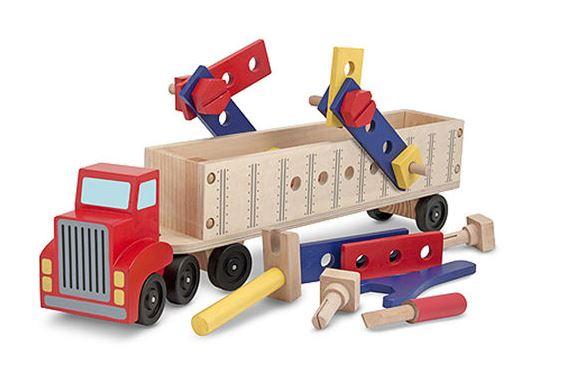 Dřevěná konstrukční stavebnice - auto