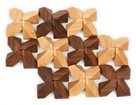 Skládačka dřevěné kameny 40 ks