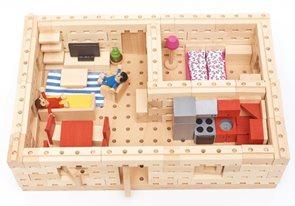 Dřevěná stavebnice Buko - Malý dům půdorys, 209 dílů