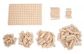 Dřevěná stavebnice Buko - Velká startovací sada, 191 dílů