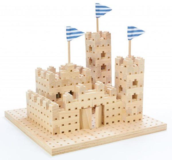 Dřevěná stavebnice Buko - Malý hrad, 295 dílů