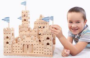 Dřevěná stavebnice Buko - Velký hrad, 542 dílů