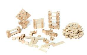 Dřevěná stavebnice Troxi  - sada, 106 dílů