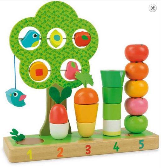 Dřevěná multifunkční hračka - Zahrádka