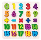 Puzzle - číslice masivní na desce