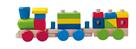 Dřevěný skládací nákladní vlak