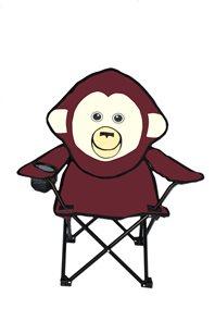 Dětské křeslo fialové Opice