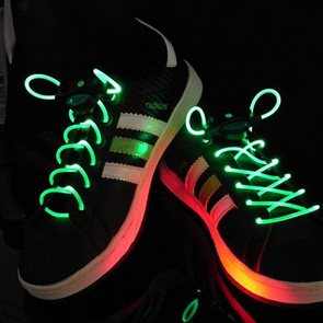 LED tkaničky do bot zelené