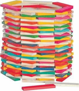 Stavebnice přírodní/barevná - Simona, 200ks