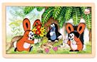 Puzzle Krtek a zajíčci, 15 dílků