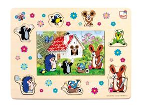 Puzzle Krteček a přátelé, 13 dílků
