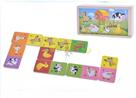 Domino dřevěné domácí zvířátka v dřevěné krabičce 16 x 9 x 5 cm