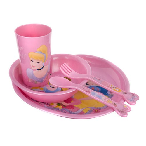 Dětská jídelní sada Princezny 5 dílů