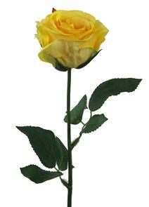 Umělá růže žlutá 47cm