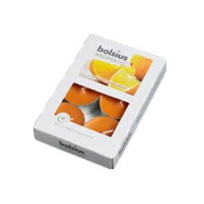 Sada čajových svíček Pomeranč 6ks