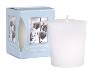 Votivní vonná svíčka White Cotton