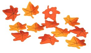 Javorové listy větší - lepítko 12ks