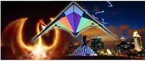 Letající drak s LED osvětlením