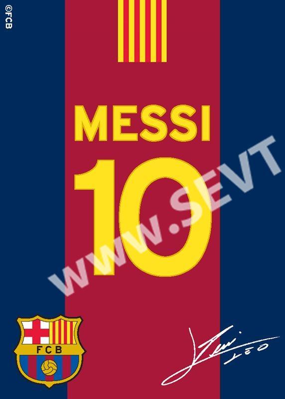 204462e3f96ef Koberec FC Barcelona Messi s podpisem 03 95 x 133 cm - SEVT.cz