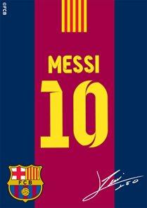 Koberec FC Barcelona Messi s podpisem 04 95 x 133 cm
