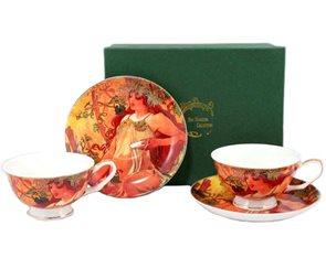 Čajový set Alfons Mucha Podzim v dárkovém balení