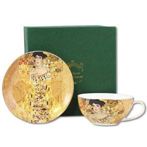 Porcelánový šálek s podšálkem G. Klimt 300ml v dárkovém balení