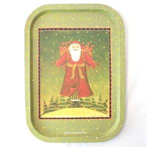 Plechový tác Santa