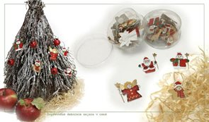 Lepící vánoční figurky 24 ks