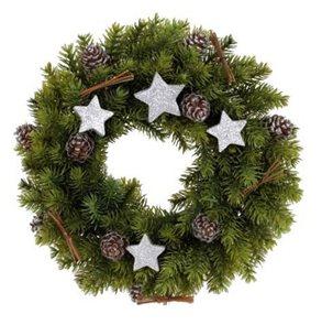 Dekorativní vánoční věnec s hvězdami