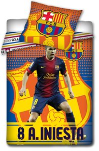 Fotbalové povlečení FC Barcelona Iniesta 2014 140 x 200 cm