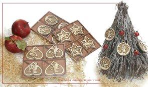 Vánoční ozdoby dřevěné 4 ks
