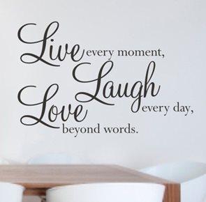 Dekorativní nálepka na zeď - LIVE LAUGH LOVE