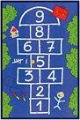 Dětský koberec Skákací panák modrý 100 x 150 cm