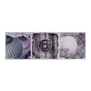Obraz Fialové zátiší 30 × 90 × 2,5 cm