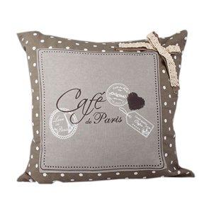 Povlak na polštář Cafe de Paris světlý
