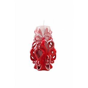 Svíčka Valentýnské srdce červená 15 cm