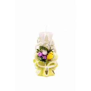 Velikonoční svíčka 15 cm žlutá