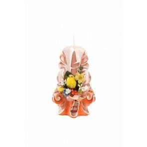 Velikonoční svíčka 15 cm oranžová