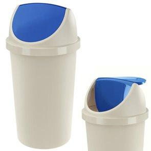 Koš na odpadky SWING AURORA 45 L sl. kost - modrá