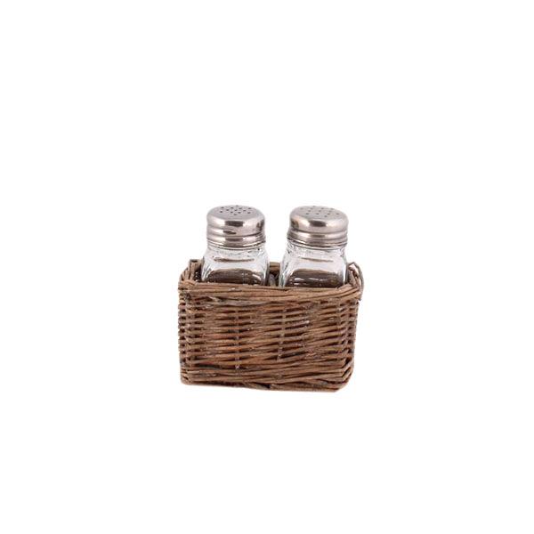 Skleněné kořenky v košíku Sweet Home - 11 × 7 × 10 cm
