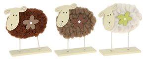 Velikonoční ovečka 15 cm béžová