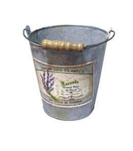 Kbelík Levandule v zinkovém provedení 14 cm