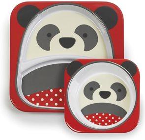 Skip hop ZOO Jídelní set miska talířek 2v1 Panda