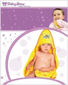 Baby Bow Dětská froté souprava žlutá