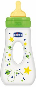 Chicco Láhev Travel pp 240ml zelená kaučuk 0+