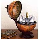 Dřevěný bar Globus malý 49 x 33 x 38 cm