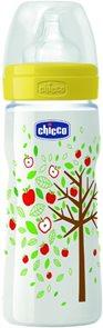 CHICCO Láhev PP 330ml, jablůňka silikon 4+