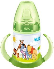 NUK FC lahvička na učení PP DISNEY-Medvídek Pú,SI pítko zelená
